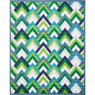 Sidney Blue Area Rug Rug Size: Rectangle 8 x 10