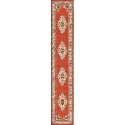 Astral Terracotta Area Rug Rug Size: Runner 27 x 10