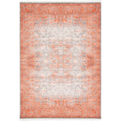 Colebrook Terracotta Area Rug Rug Size: 8 x 11