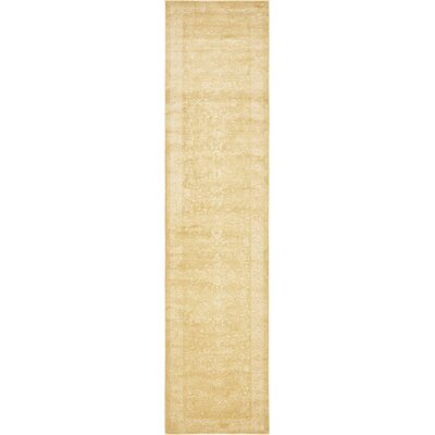 Aberdeen Imperial Gold Area Rug Rug Size: Runner 3 x 13