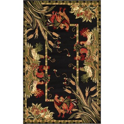 Andersonville Black Area Rug Rug Size: 5 x 8