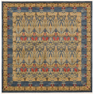 Fonciere Navy Blue Area Rug Rug Size: Square 8