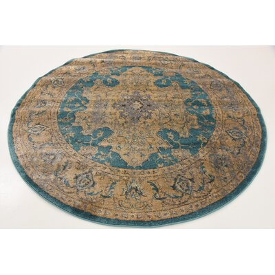 Essex Teal Area Rug Rug Size: Rectangle 6 x 9