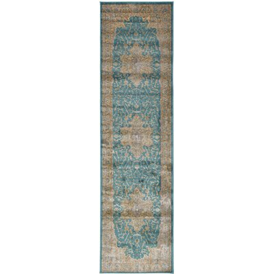 Essex Teal Area Rug Rug Size: Runner 27 x 10