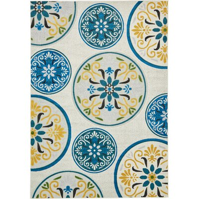 Janet Cream Indoor/Outdoor Area Rug Rug Size: Rectangle 6 x 9