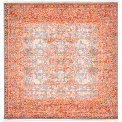 Colebrook Terracotta Area Rug Rug Size: Square 8