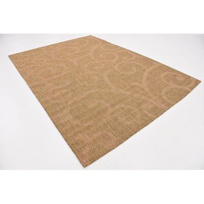 Kendari Brown Outdoor Area Rug Rug Size: Rectangle 7 x 10