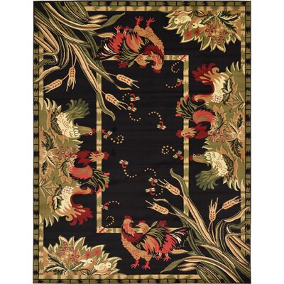 Andersonville Black Area Rug Rug Size: Rectangle 9 x 12