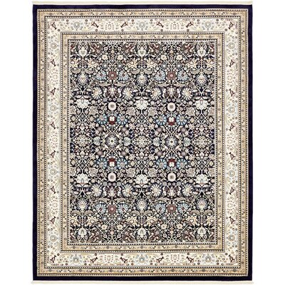 Courtright Navy Blue/Tan Area Rug Rug Size: 8 x 10