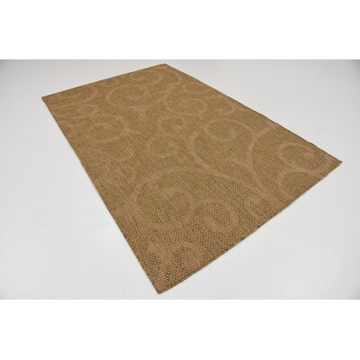 Kendari Brown Outdoor Area Rug Rug Size: Rectangle 5 x 8