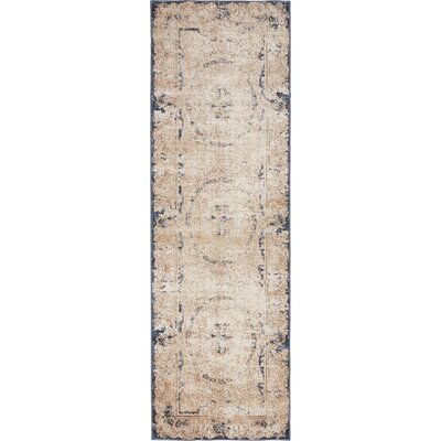 Abbeville Cream Area Rug Rug Size: Runner 22 x 67