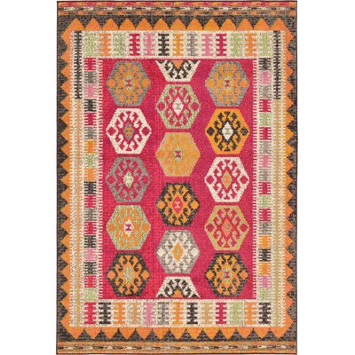 Phillips Red Area Rug Rug Size: 4 x 6