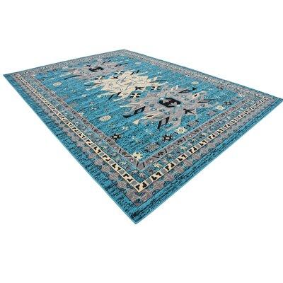 Sina Turquoise Area Rug Rug Size: 9 x 12