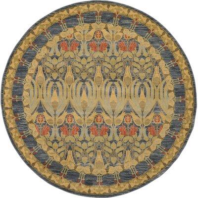 Fonciere Navy Blue Area Rug Rug Size: Round 6
