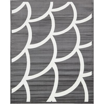 Sidney Gray Area Rug Rug Size: Rectangle 8 x 10