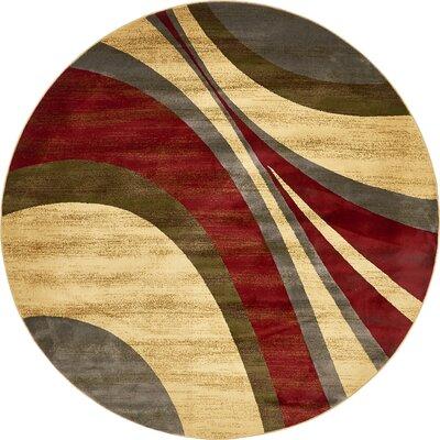 Jaidan Traditional Beige Area Rug Rug Size: Round 8