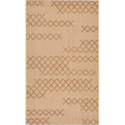 Cherene Tan Indoor/Outdoor Area Rug Rug Size: Rectangle 2 x 33