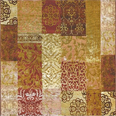 Jamie Gold Indoor/Outdoor Area Rug Rug Size: Square 6