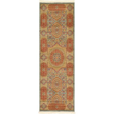 Laurelwood Red/Beige Area Rug Rug Size: Runner 2 x 6