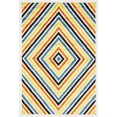 Sidney Yellow / Blue Area Rug Rug Size: Rectangle 4 x 6