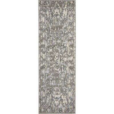 Fasano Gray Area Rug Rug Size: Runner 2 x 6