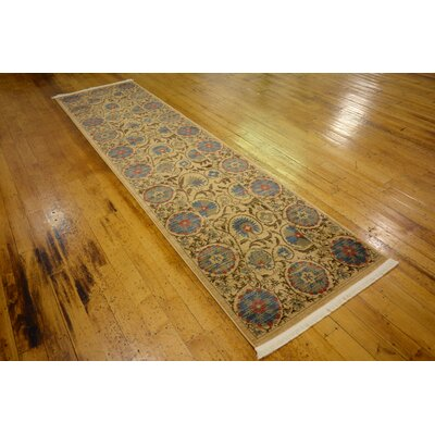 Fonciere Tan Area Rug Rug Size: Runner 27 x 10