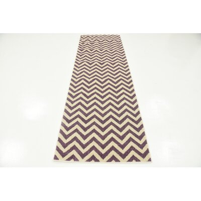 Erna Purple Area Rug Rug Size: 33 x 53