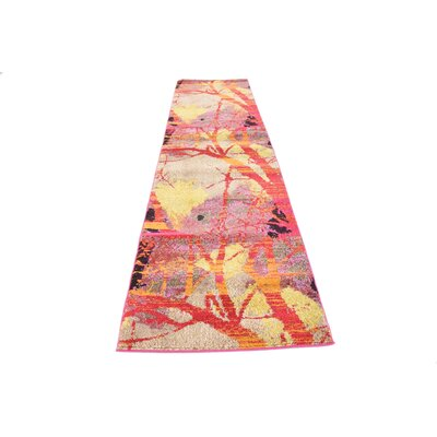 Oldsmar Red Area Rug Rug Size: Rectangle 33 x 53