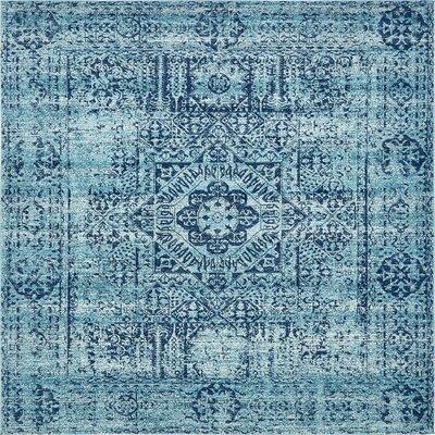 Cretien Turquoise Area Rug Rug Size: Square 84