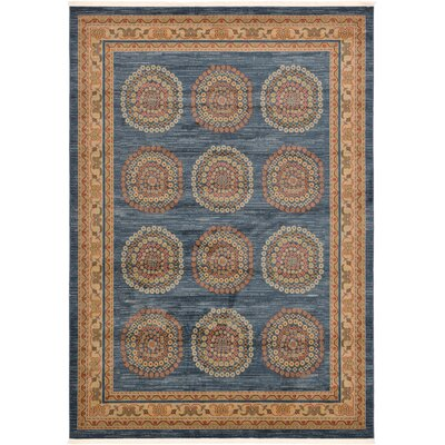 Virginia Blue/Brown Area Rug Rug Size: 7 x 10