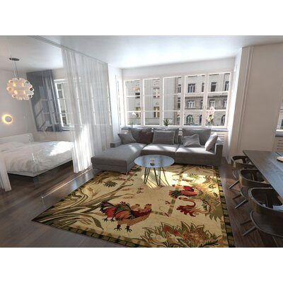 Andersonville Cream Area Rug Rug Size: Rectangle 9 x 12