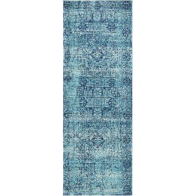 Cretien Turquoise Area Rug Rug Size: Runner 22 x 6