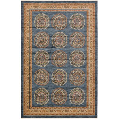 Virginia Blue/Brown Area Rug Rug Size: 6 x 9
