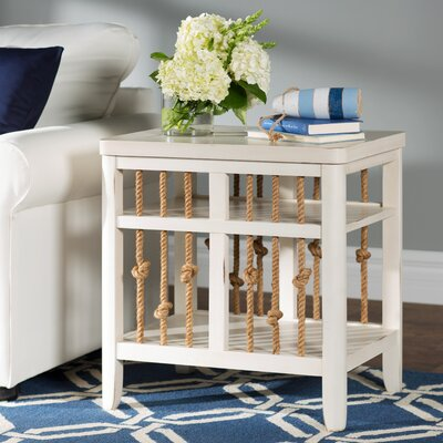 Rymann Chairside Table Finish: White