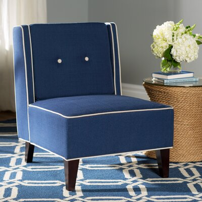 Elderfield Slipper Chair Color: Indigo
