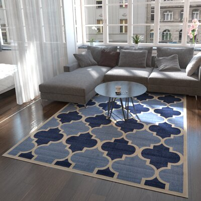 Moore Light Blue Area Rug Rug Size: Rectangle 7 x 10