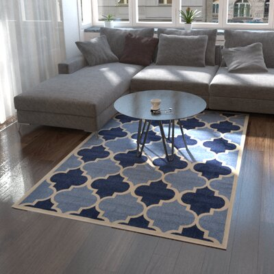 Moore Light Blue Area Rug Rug Size: Rectangle 5 x 8