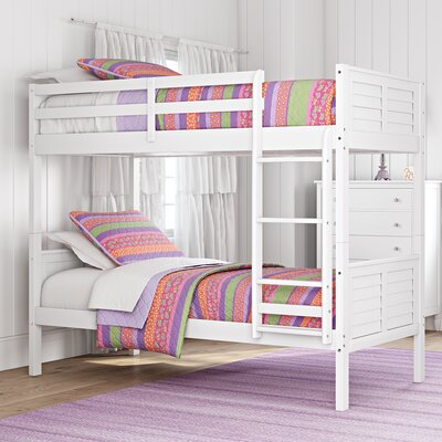 Sherry Twin over Twin Bunk Bed Color: White