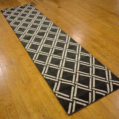 Storyvale Black Area Rug Rug Size: Runner 27 x 10