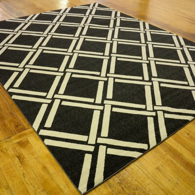 Storyvale Black Area Rug Rug Size: Rectangle 9 x 12