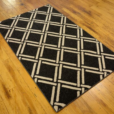 Storyvale Black Area Rug Rug Size: Rectangle 33 x 53