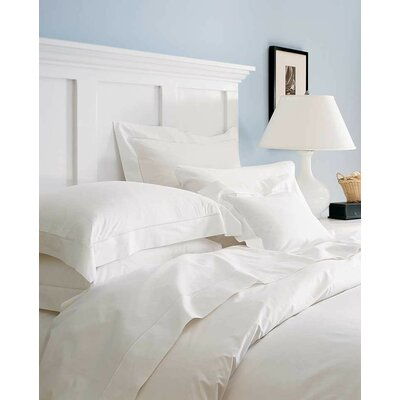 Sereno 100% Cotton Flat Sheet Color: Ivory, Size: Full/Queen