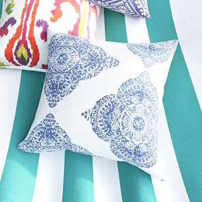 Leavenworth Reversible 100% Cotton Throw Pillow Color: Indigo, Size: 18 x 18