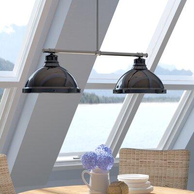 Bodalla 2-Light Kitchen Island Pendant Finish: Chrome, Shade Color: Black