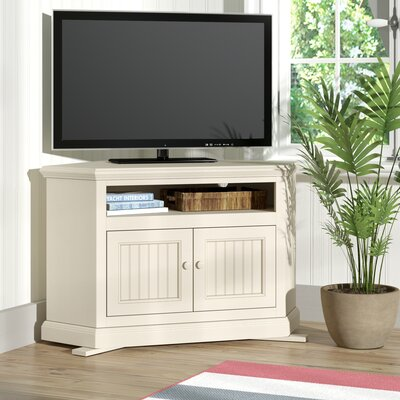 Didier Corner 43 TV Stand Door Type: Wood Panel, Color: Soft White