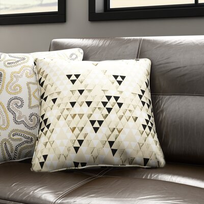 Carlton Triangle Standard Outdoor Throw Pillow Size: 16 H x 16 W x 4 D