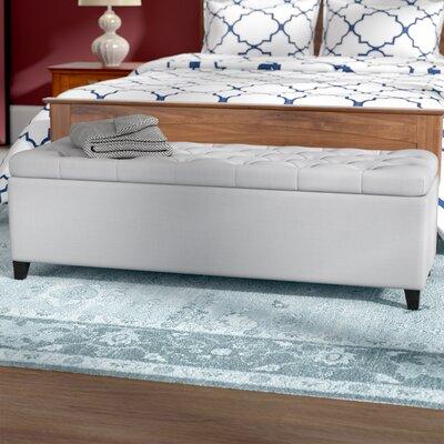 Amalfi Upholstered Storage Bench Upholstery: Light Gray