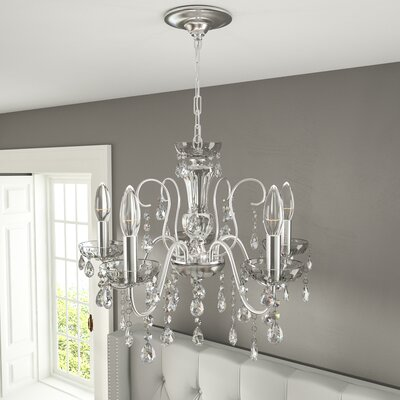 Roney 5-Light Crystal Chandelier Finish: Polished Chrome