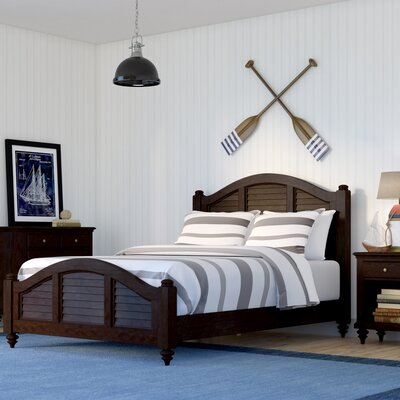 Harrison Traditional Striped Panel 3 Piece Bedroom Set Finish: Espresso, Size: Queen