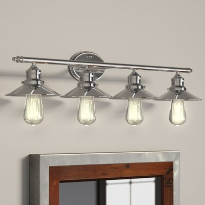 Baden-Powell 4-Light Vanity Light Finish: Polished Chrome